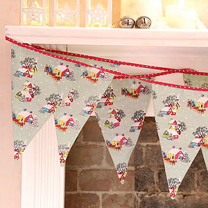 Vintage Style Christmas Bunting - garlands, bunting & hanging decorations