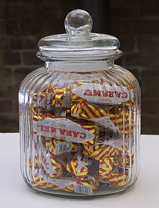 Ridged Glass Sweet And Biscuit Jar - storage & organising