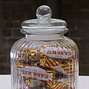 Ridged Glass Sweet And Biscuit Jar