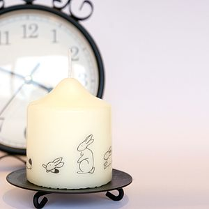 Easter Rabbit Candle - tableware