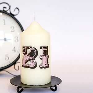 Personalised Number Candle