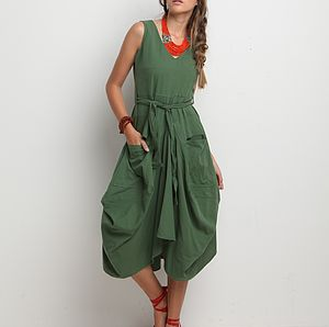 Charisma Balloon Draping Dress - dresses