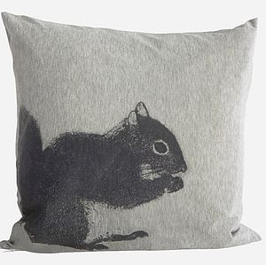 Squirrel Cushion - patterned cushions