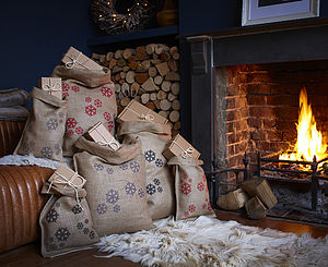 Christmas Snowflake Sack - stockings & sacks