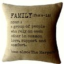 Personalised Family Definition Cushion