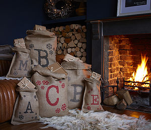 Christmas Initial Sack - view all decorations