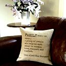 Personalised 'Family' Definition Cushion