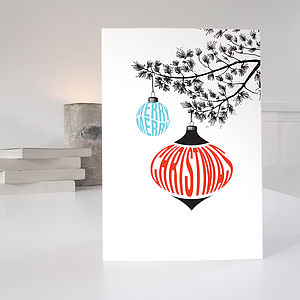 Christmas Cards In A Pack Of Five Retro Designs - winter sale