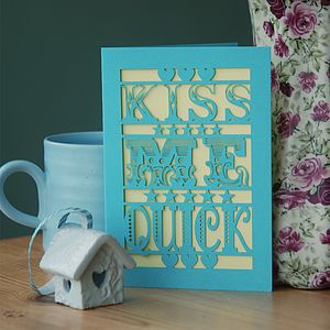 Laser Cut Kiss Me Quick Card