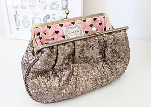 Bronze Sequin Toiletry Bag