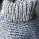 Chunky Roll Neck Jumper in Light Grey
