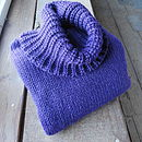 Chunky Roll Neck in Aubergine Purple