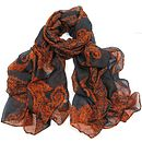 Soft Touch Paisley Print Scarf