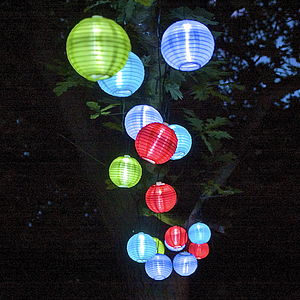 String Of 20 Chinese Solar Lanterns - fairy lights & string lights