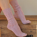 Personalised Women's Chunky Lounge Socks
