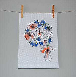 Poppy And Sweetpea Art Print