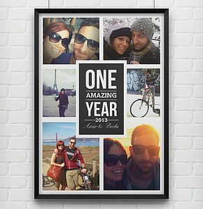 'One Amazing Year' Personalised Photo Print - living room