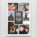 'One Amazing Year' Personalised Photo Print