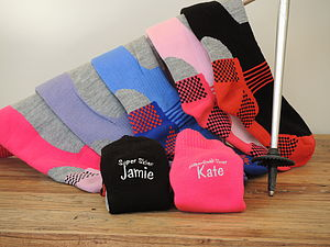 Personalised Ski, Snowboard Socks - stocking fillers under £15
