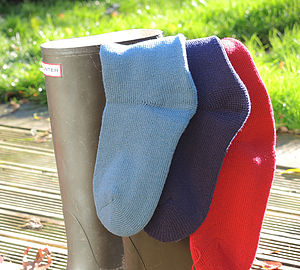 Personalised Welly Boot, Wool Socks - personalised