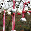 Set Of Four Christmas Sleigh Bells
