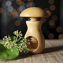 Carved Wooden Mushroom Nut Cracker