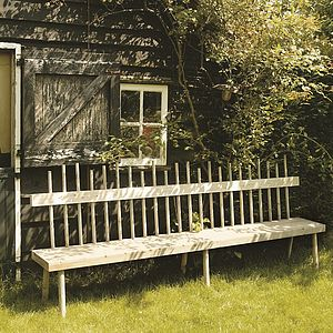 Broom Stick Bench - garden furniture