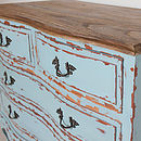 Turquoise French Four Drawer Chest