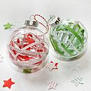 Personalised Paper Ribbon Bauble