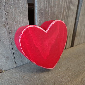 Wooden Heart Light Pull