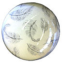 Floating Feathers Paperweight
