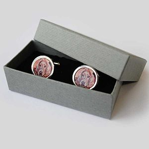Hand Made Personalised Photo Cufflinks - cufflinks