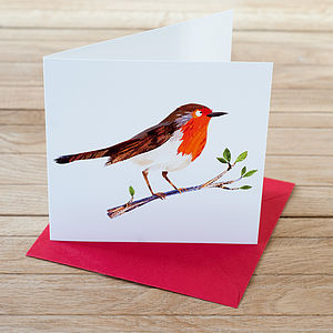 Pack Of Rosy Robin Christmas Cards