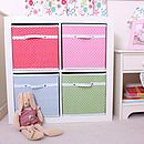 Fabric Storage Box Six Colours Available