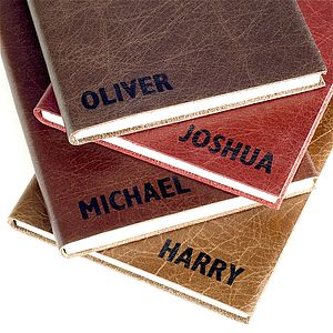 Express* Personalised Leather Notebook