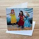 Damsels Greetings Card