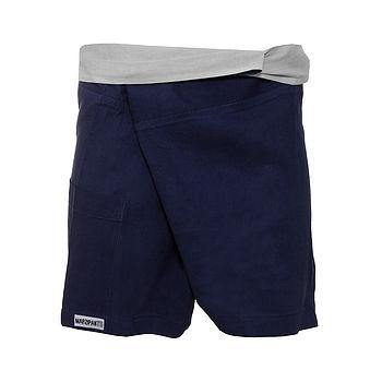 Blue Hot Yoga Shorts