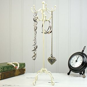 Cream Coat Stand Jewellery Holder - jewellery storage & trinket boxes