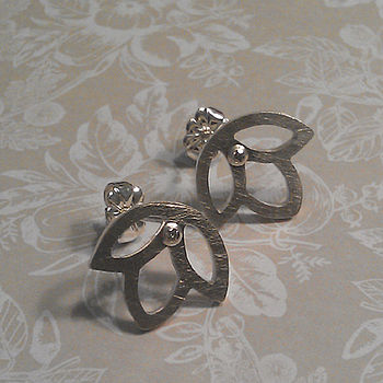 Triple Bud Diamond Earrings