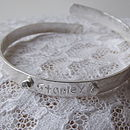 Boys Sterling Silver Christening Bangle