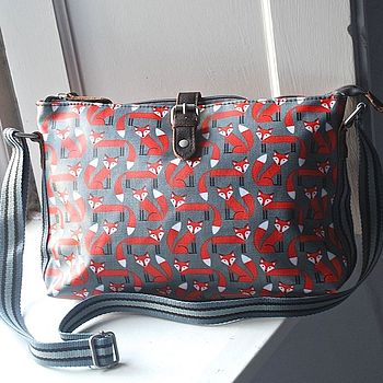 Fox Print Crossbody Day Bag