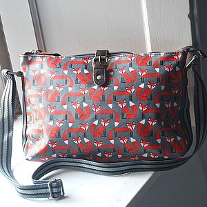 Fox Print Crossbody Day Bag - bags & purses