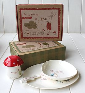 Kids Bunny Dinner Set - crockery & chinaware