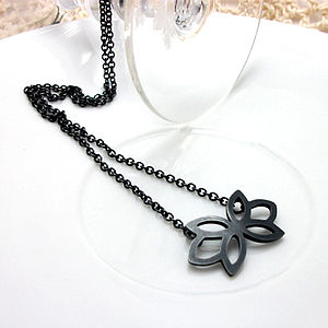 Floral Silver Pendant - necklaces & pendants
