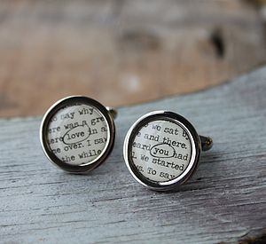 Personalised 'My Story' Cufflinks
