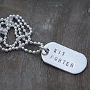 Mini Silver Identity Dog Tags