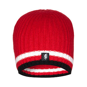 Men's Cashmere Beanie Hat In Team Colours