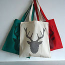 Deer Tote Bag Cross Stitch Kit