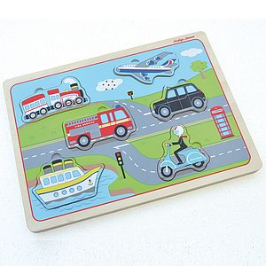 Transport Sound Puzzle - traditional toys & games
