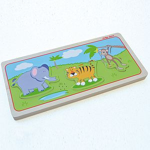 Wood Puzzle With Wild Animal Sounds